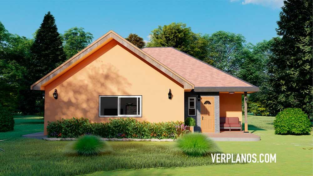 Vista previa fachada plano de casa clasica