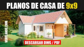 Plano de casa Pequeña y económica gratis en autocad y pdf para descargar