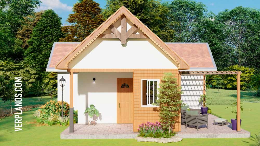 Vista previa de su fachada plano de casa