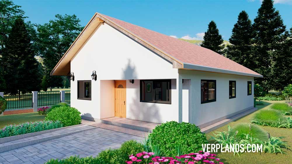 Vista previa fachada plano de casa estándar