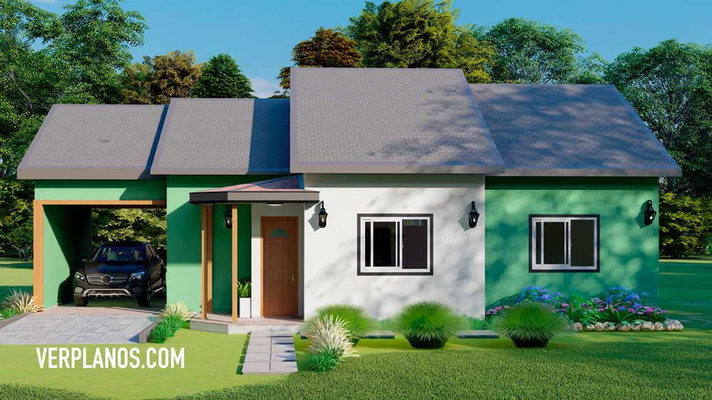 Vista previa de la fachada del plano de casa