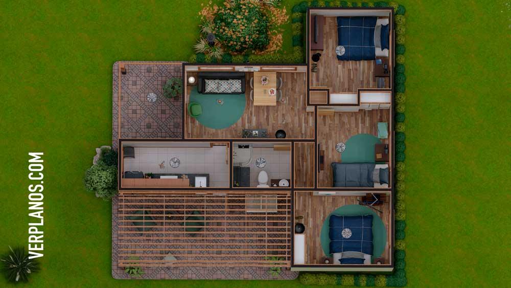 Vista previa de su planta plano de casa