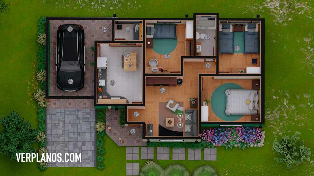 Vista previa de su planta del plano de casa económica