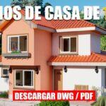 Planos de casa de 2 pisos grande y cómoda con 5 dormitorios