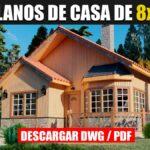 Planos de Casa prefabricada de 1 piso con 2 dormitorios y 2 Baños ¡GRATIS! en Autocad y PDF
