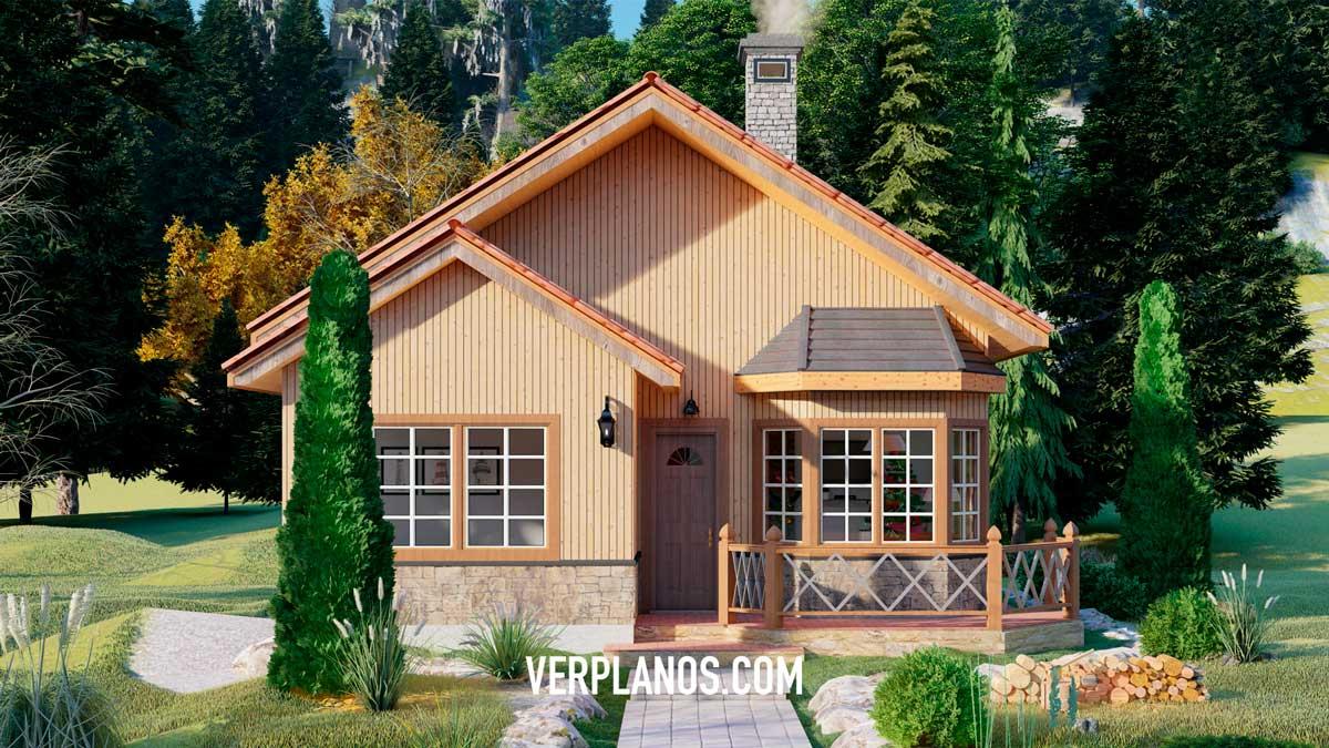 Vista previa de su fachada plano de casa prefabricada
