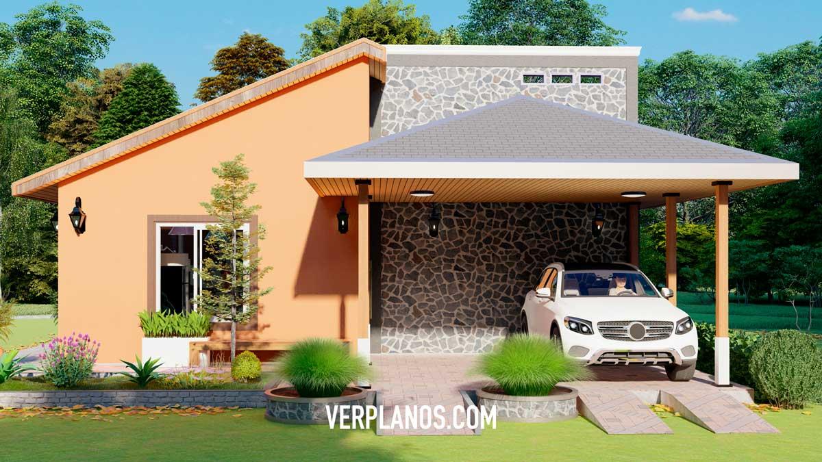 Vista previa de su fachada del plano de casa