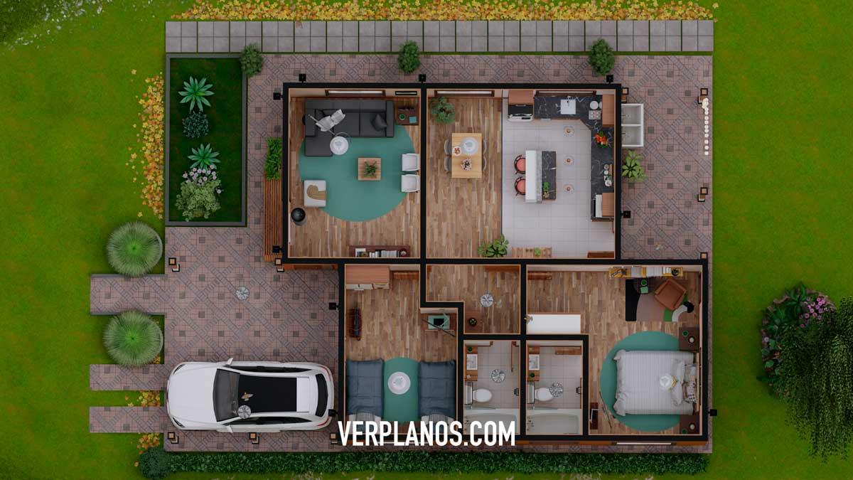 Vista previa de su planta plano de casa gratis