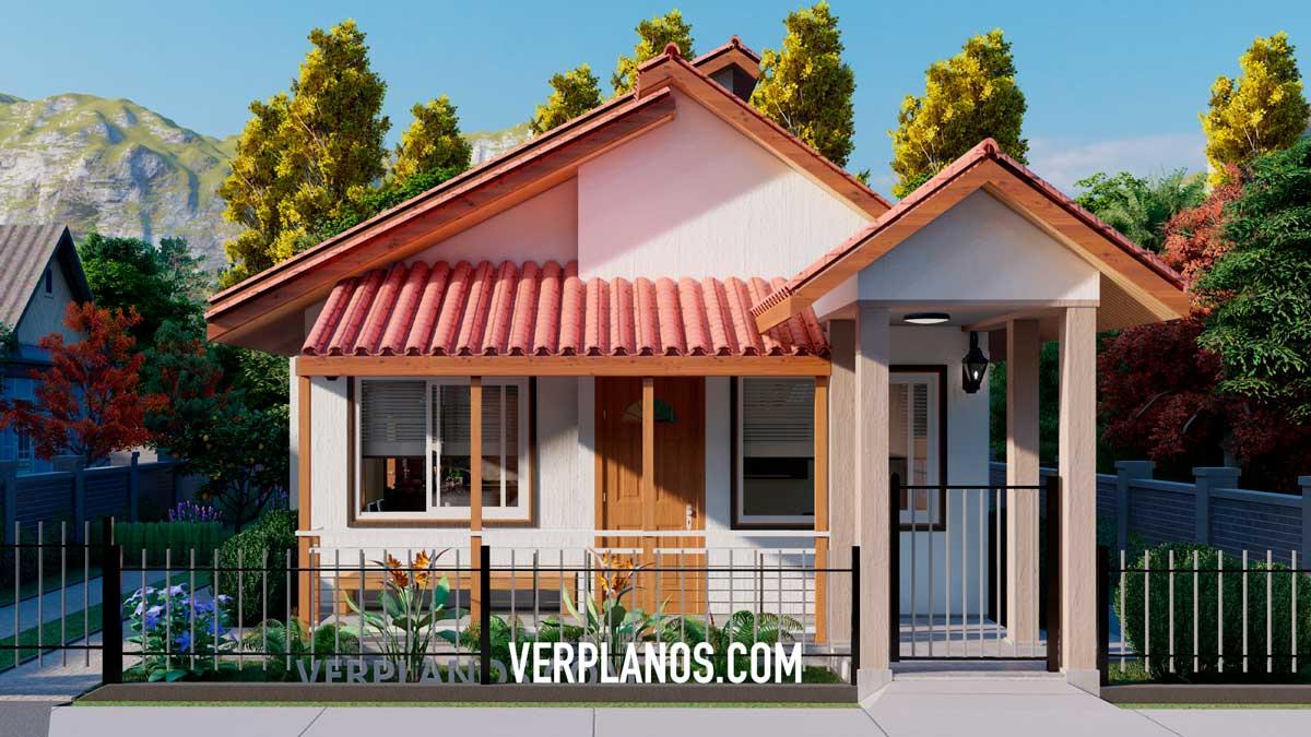Fachada principal plano de casa