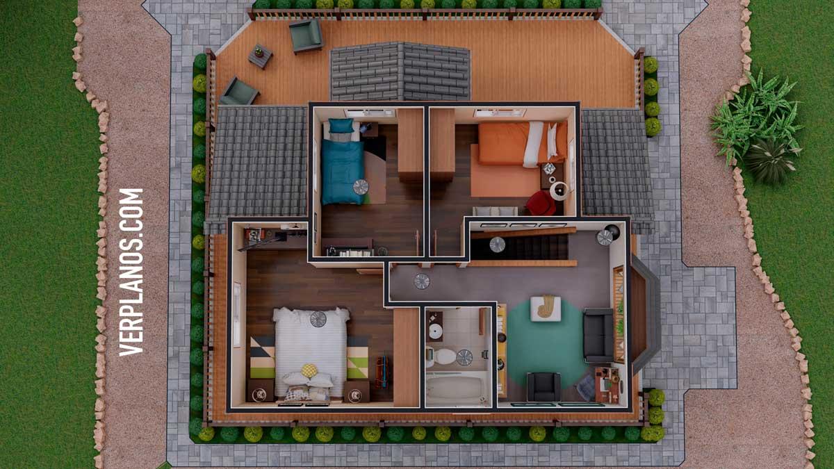 Vista previa planta segundo piso