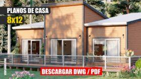 Planos de Cabaña ¡GRATIS! DWG y PDF - Casa de Campo