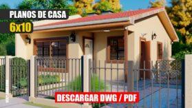 Planos de casa económica de 3 dormitorios 2 baños gratis autocad pdf gratis descargar