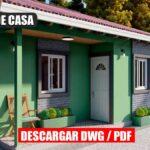 Planos de casa pequeña económica y bonita de 3 dormitorios y 2 baños gratis en autocad y pdf