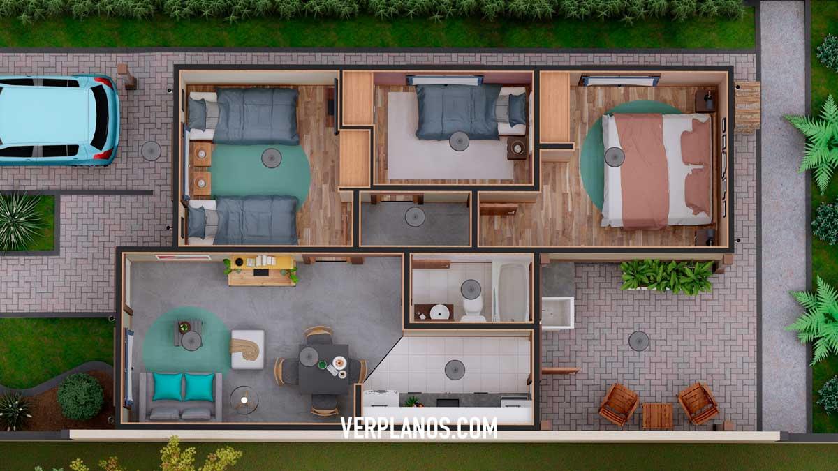 Planta segunda variación del plano de casa