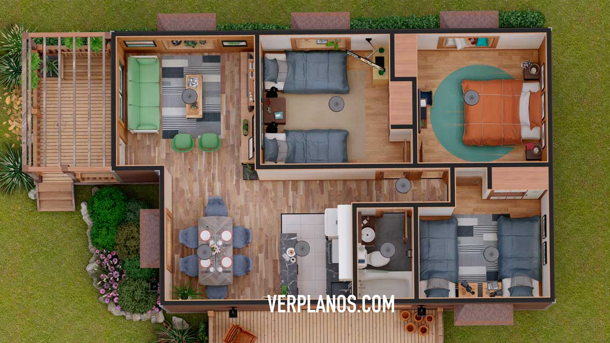 Vista previa de su planta plano de casa prefabricada