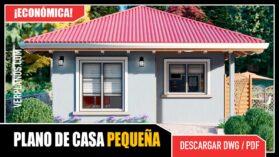 Planos de casa pequeña y económica en autocad formato dwg y pdf gratis
